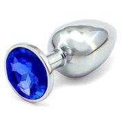 Anální kovový kolík - tmavě modrý, větší