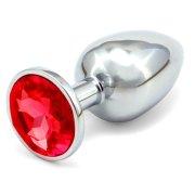 Anální kovový kolík - červený, větší