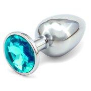 Anální kovový kolík - světle modrý, větší