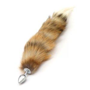 Anální kolík s ocáskem (liška), hnědý