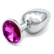 Anální kovový kolík - tmavě fialový, větší