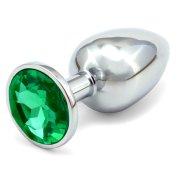 Anální kovový kolík - tmavě zelený, větší