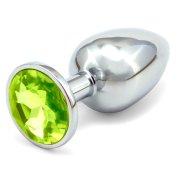 Anální kovový kolík - světle zelený, větší