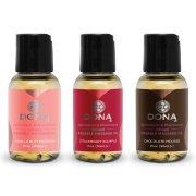 Dárková sada masážních olejů DONA Flavored - 3x 30 ml