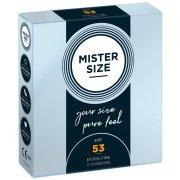 Kondomy MISTER SIZE 53 mm (3 ks)