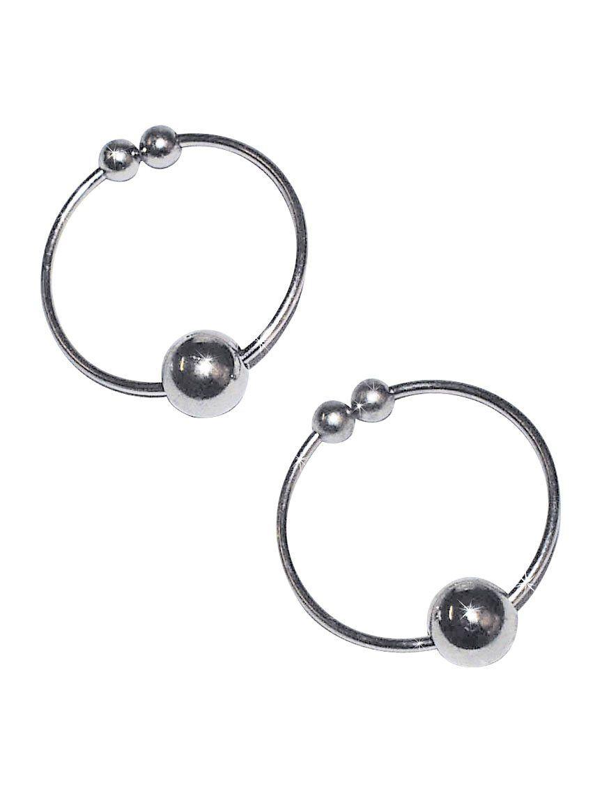 NMCKroužky na bradavky - falešný piercing (stříbro)