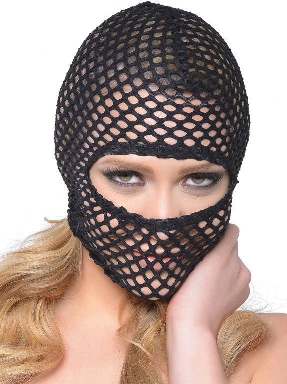 Fetish Fantasy Síťovaná maska Fishnet Hood