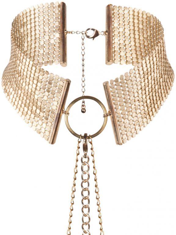 Bijoux IndiscretsNáhrdelník - obojek Désir Métallique Gold, zlatý