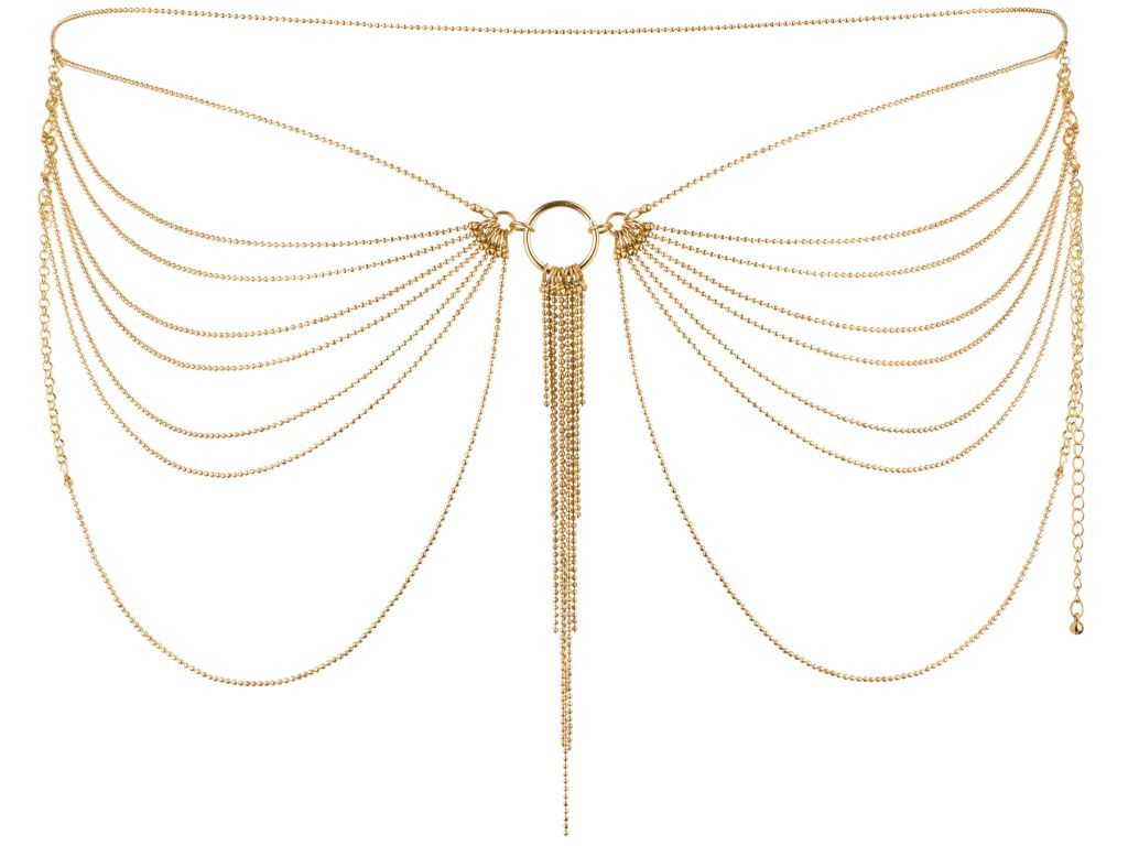 Bijoux Indiscrets Ozdobné řetízky na boky Magnifique Gold, zlaté