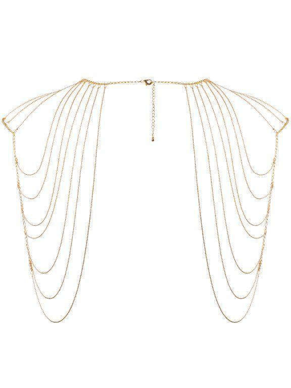 Bijoux Indiscrets Ozdobné řetízky na ramena Magnifique Gold, zlaté