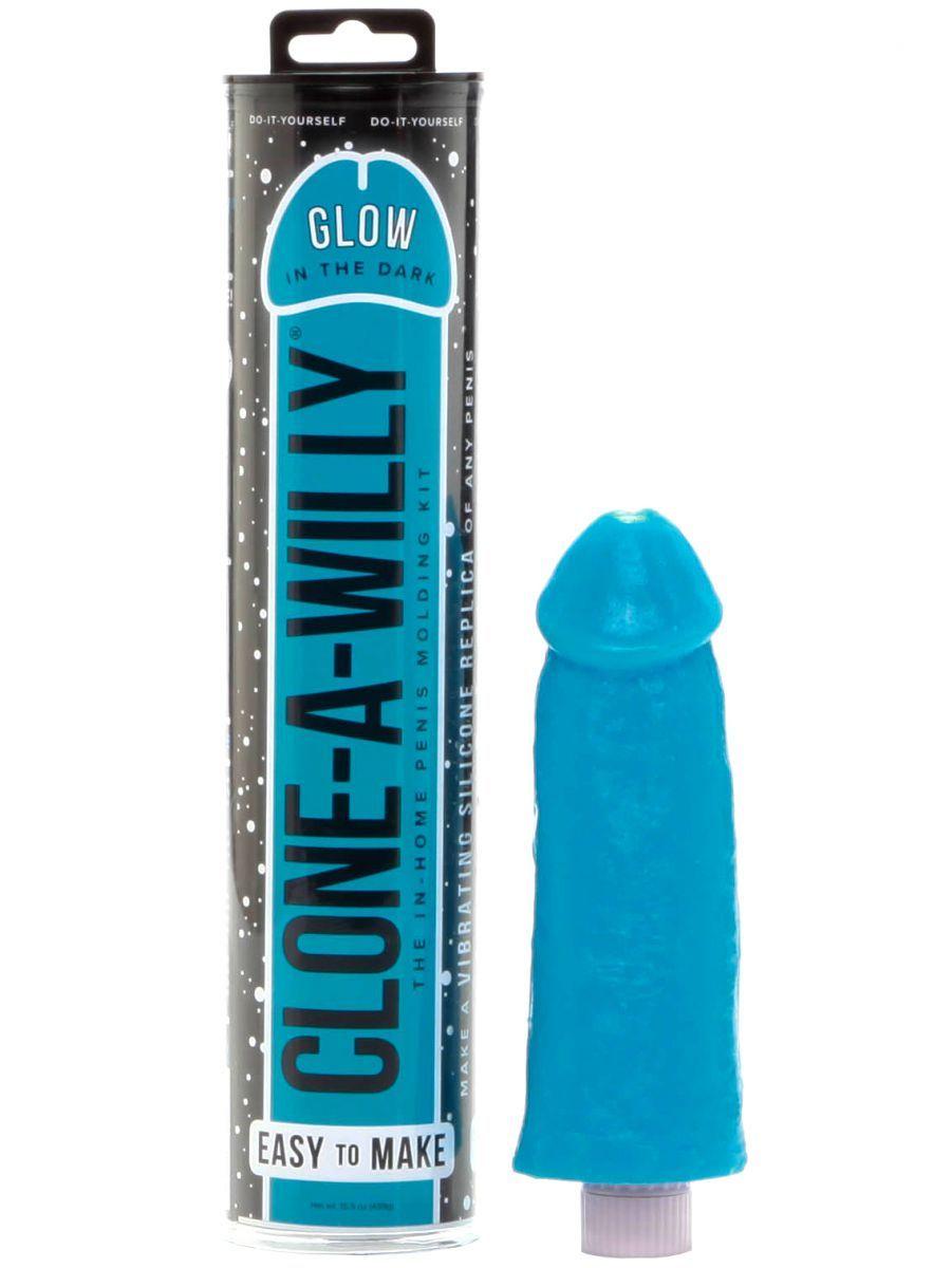 Clone-A-WillyClone-A-Willy Glow-in-the-Dark Blue (vibrátor) - sada pro odlitek penisu